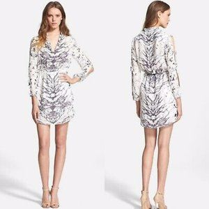 Haute Hippie Bird & Branch Silk Blouson Dress XS
